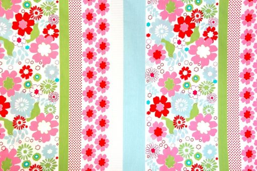 floral, spot & coloured girls quilt cover / duvet fabric