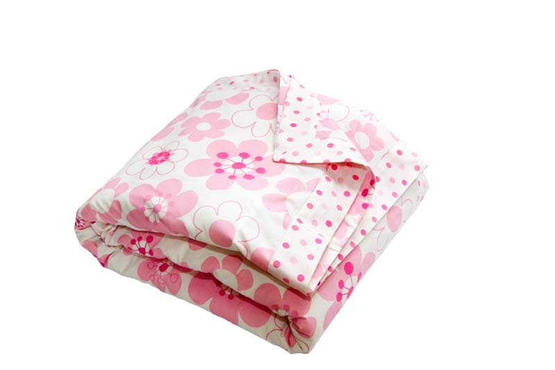 Millie pink and white floral and spot Quilt Cover