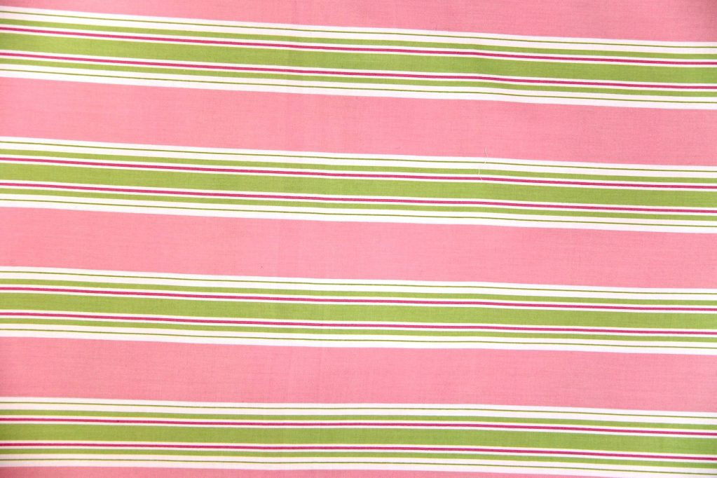 Emma pink/lime green/white striped quilt cover