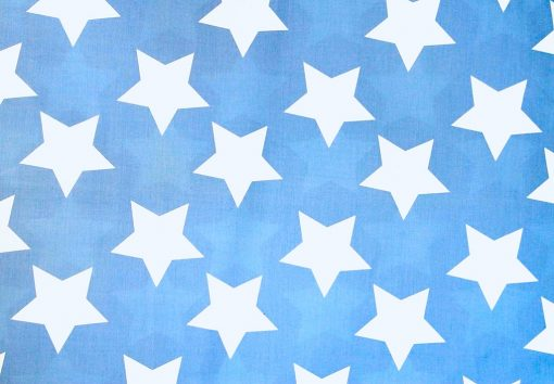 Wills Star blue and white star boys quilt cover fabric