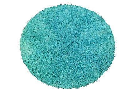 aquamarine round shaggy floor rug for kids