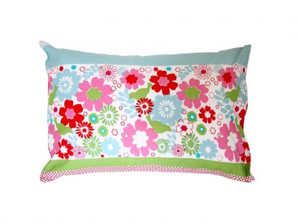 Charlotte floral print pillowcase