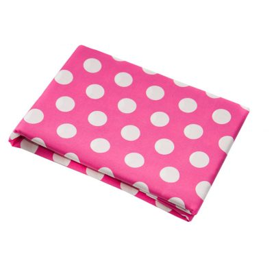 Emma Pink with White Spot Fitted Sheet