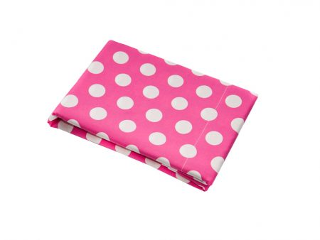 Emma Pink with White Spot Top Sheet