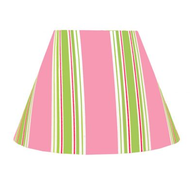 Emma pink/white/lime green striped lampshade