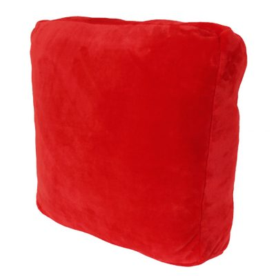 Coral fleece red floor cushion