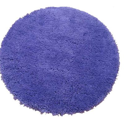 Groovy Grape purple circular shagpile rug