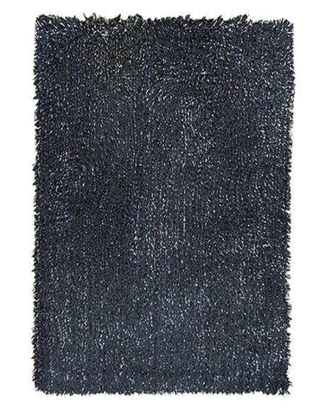 Rectangular gunpowder grey shagpile rug