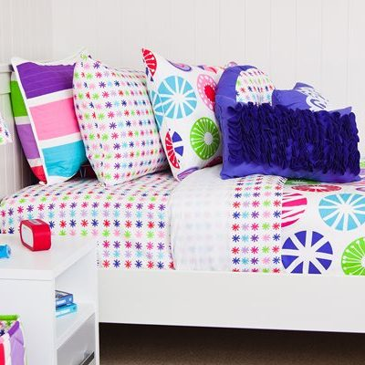 lou lou multi coloured large circle girl quilt cover / duvet