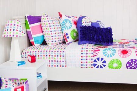 lou lou multi coloured large circle girl quilt cover / duvet