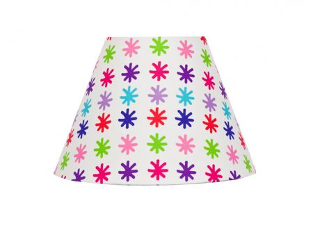 White with red, pink, purple, green and blue star Lou Lou Star Lampshade