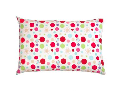 Lucy candy colour spot pillowcase