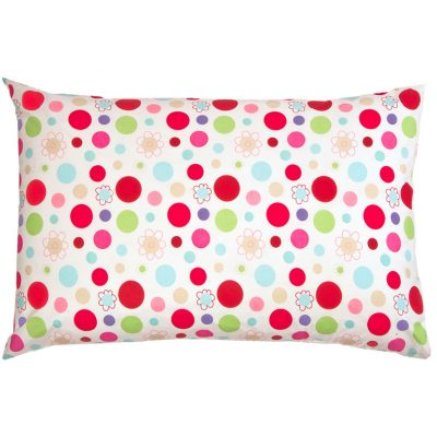Lucy candy colour spot pillowcase