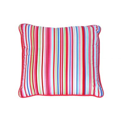 Lucy candy striped square cushion