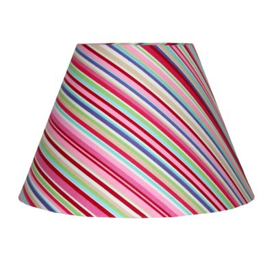 Lucy candy coloured Stripe Lampshade