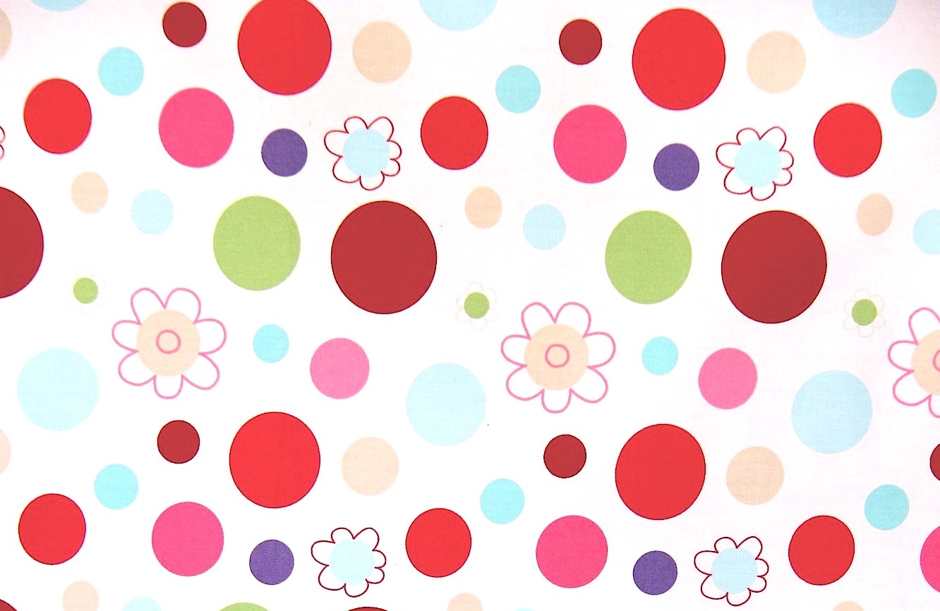 coloured spotty girls quilt cover fabric