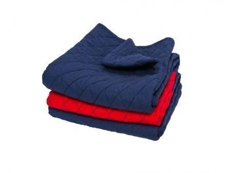 Quilted red and blue Mariner Comforter
