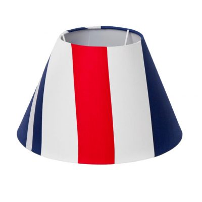 Red, white and blue striped Mariner Lampshade