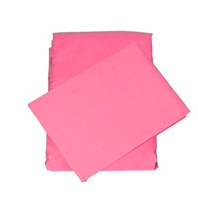 Poppy Pink 100% cotton fitted and top sheet set