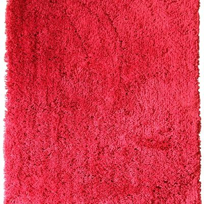 Racing Red shagpile rug