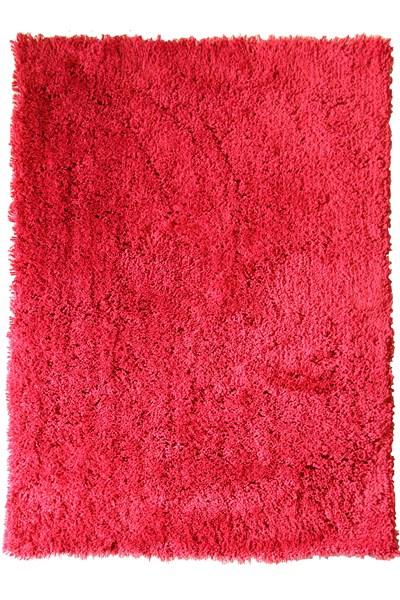 Racing Red shagpile rug