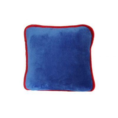 Blue with red trim scatter cushion