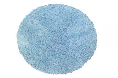 Light blue shagpile circular rug