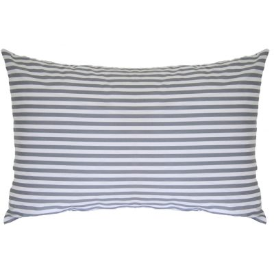 Tom grey and white striped pillowcase
