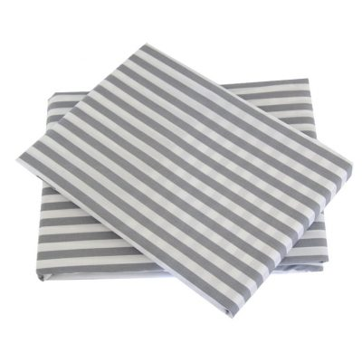 Tom grey/white striped sheet set