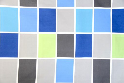 boys quilt cover / doona in blue, grey & green