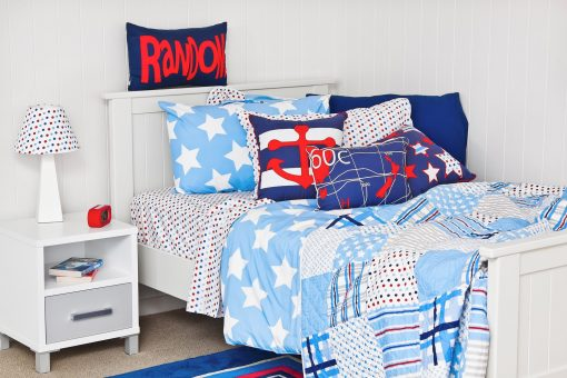 Wills Star quilt cover, comfort and spot sheeting