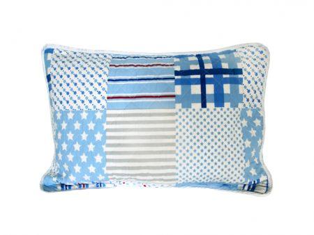 Wills star quilted patchwork pillowsham