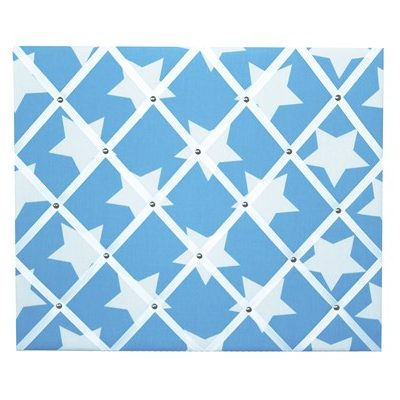 Wills Start light blue pinboard with white stars