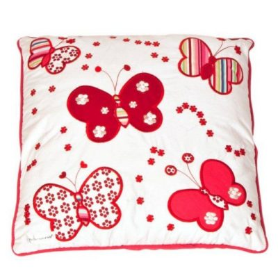 Red and white Butterfly Cushion