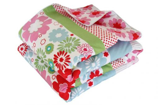 Charlotte red, pink, blue and green floral UK Quilt Cover Set