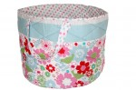 Red, white, lbue and green floral and spot Charlotte Storage Bag