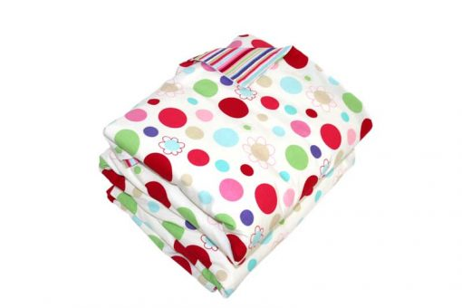 Lucy spot and striped UK Quilt Cover Set