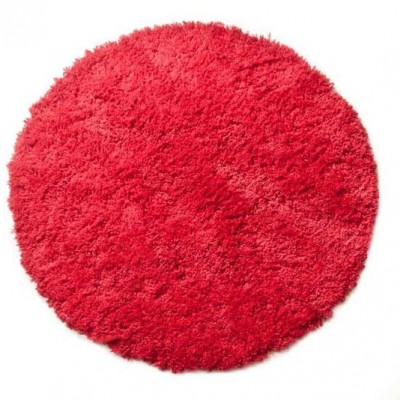 Regal Red Circle Shagpile Rug