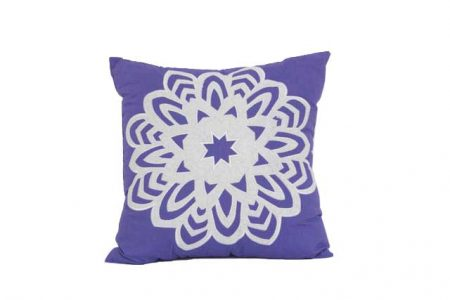 Purple cushion with white Snowflake