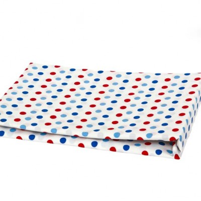 White with red and blue spot Top Sheet