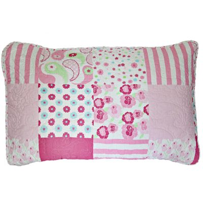 Victoria quilted patchwork pillowsham