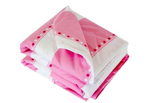Victoria pink and white 100% cotton quilt cover doona