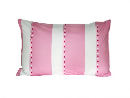 Victoria pink and white quilt print pillowcase