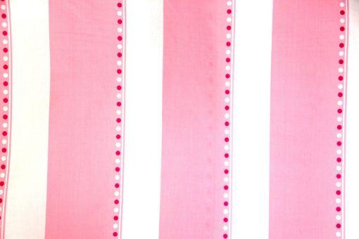 pink & white striped girls quilt cover / duvet