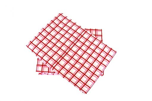 Zoe pink/red grid sheeting