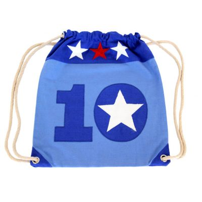 Blue/white/red Star 10 Tote Bag