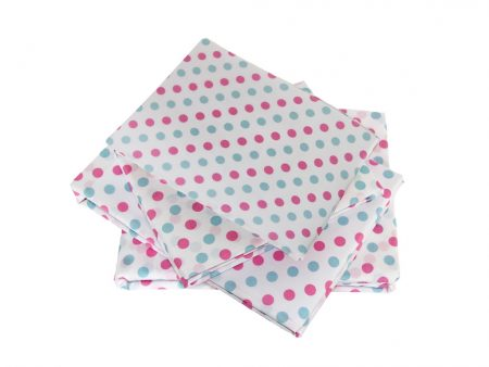 Charlotte pink and light blue spot sheeting