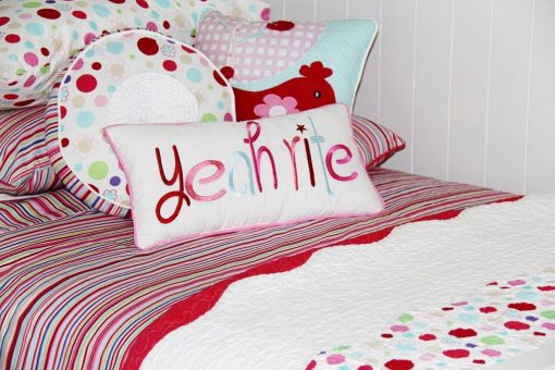 Lucy spot quilt cover with lucy comforter & cushions