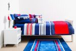 Mariner quilt cover, sheeting, comforter & lampshade, Compass cushion