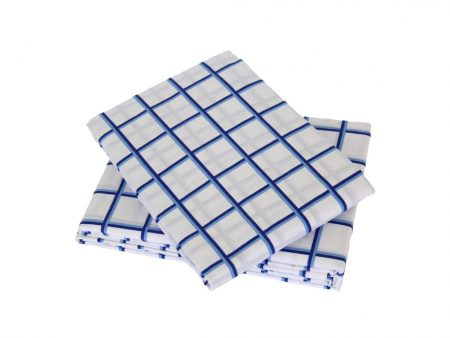 Nautical blue/white grid sheeting